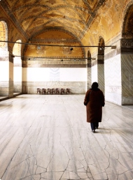 Solitude in the Hagia Sophia, Istanbul