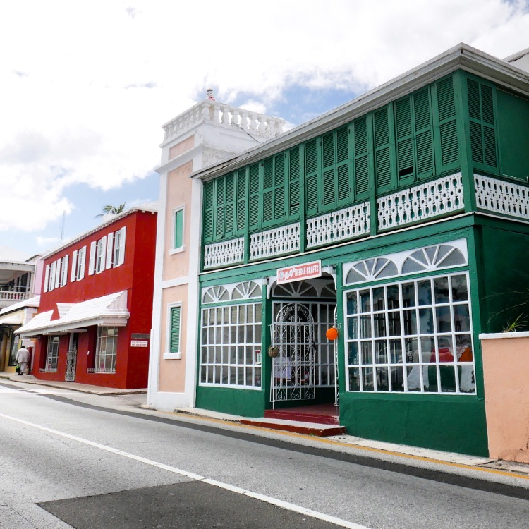 A street in St. George's, the first permanent English settlement on the island.