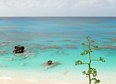 The view from the Reefs, a hotel on the south shore of Bermuda.
