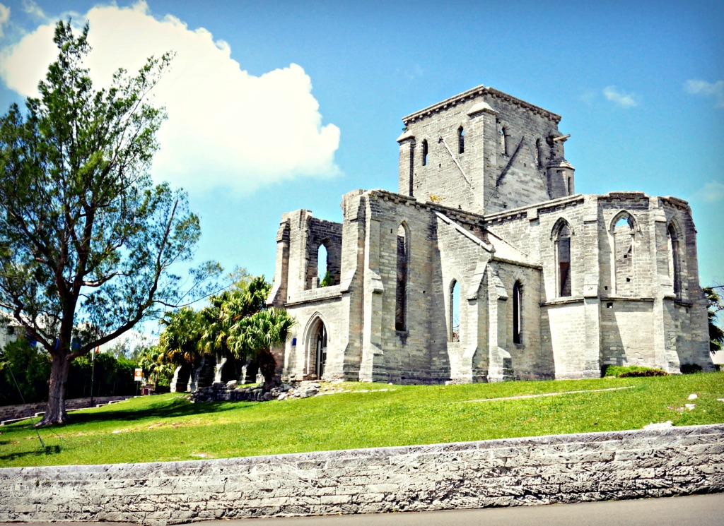 The Unfinished Church in St. Georges.