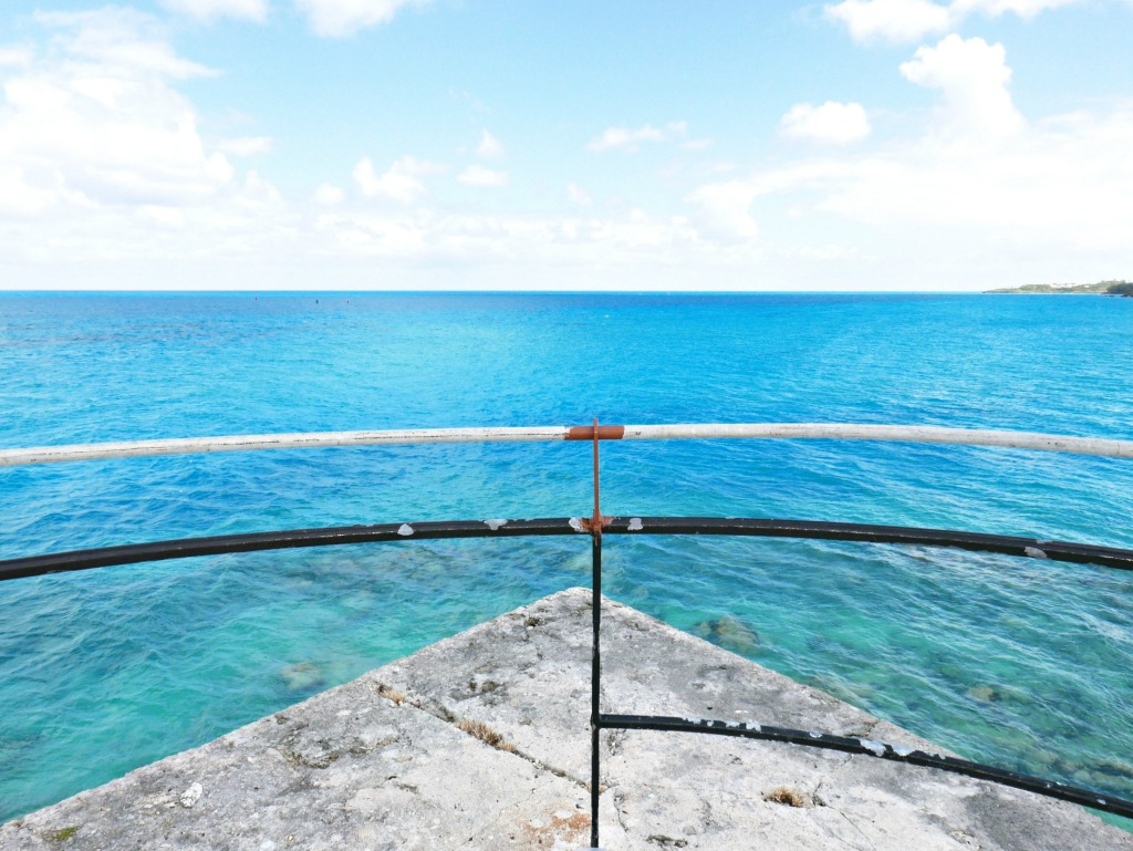 A wide sea view from Fort St. Catherine.
