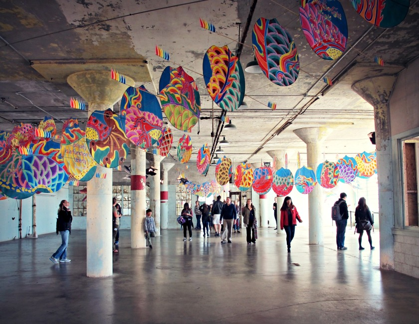 """In """"With Wind,"""" Ai Weiwei places a Chinese dragon kite within a nondescript, empty space."""