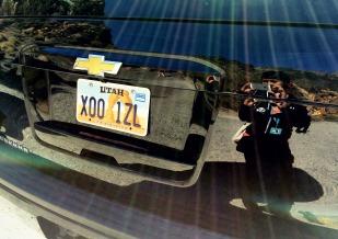 Utah car selfie.