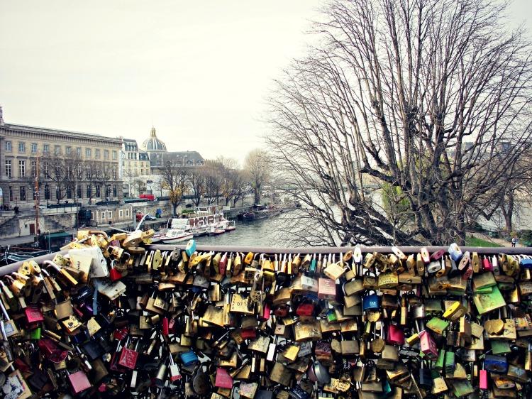 Love locks on Pont des Arts.