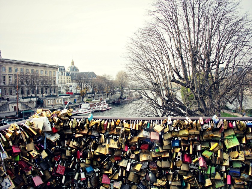 Love locks on Pont des Arts.