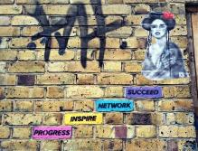 Brick art off Brick Lane