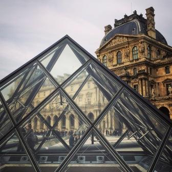 Pyramid at Louvre