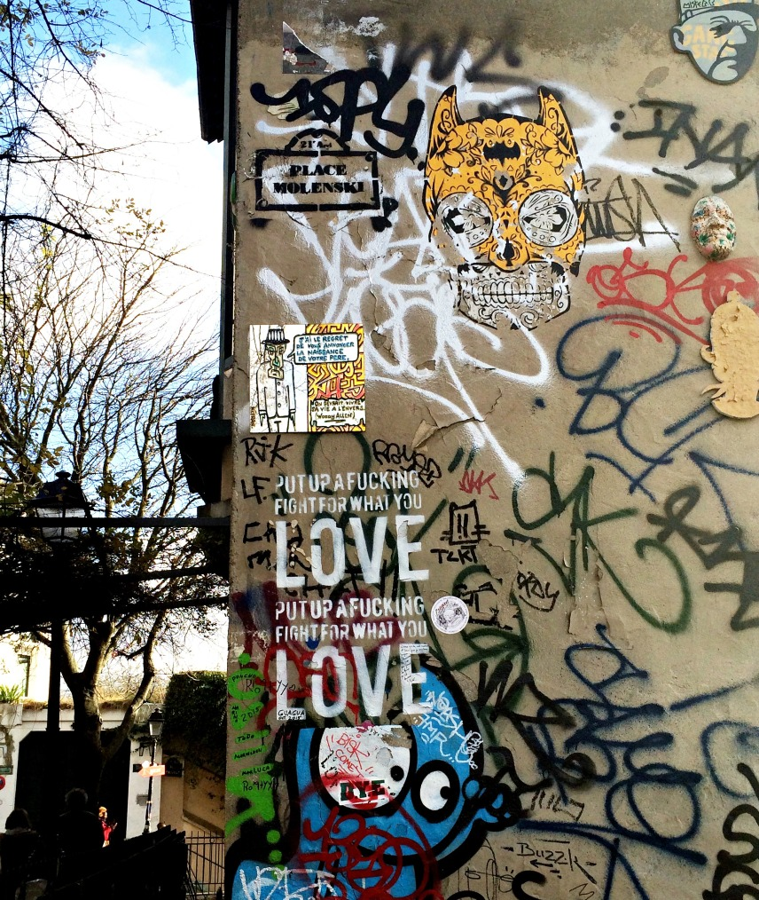 Wall in Montmartre