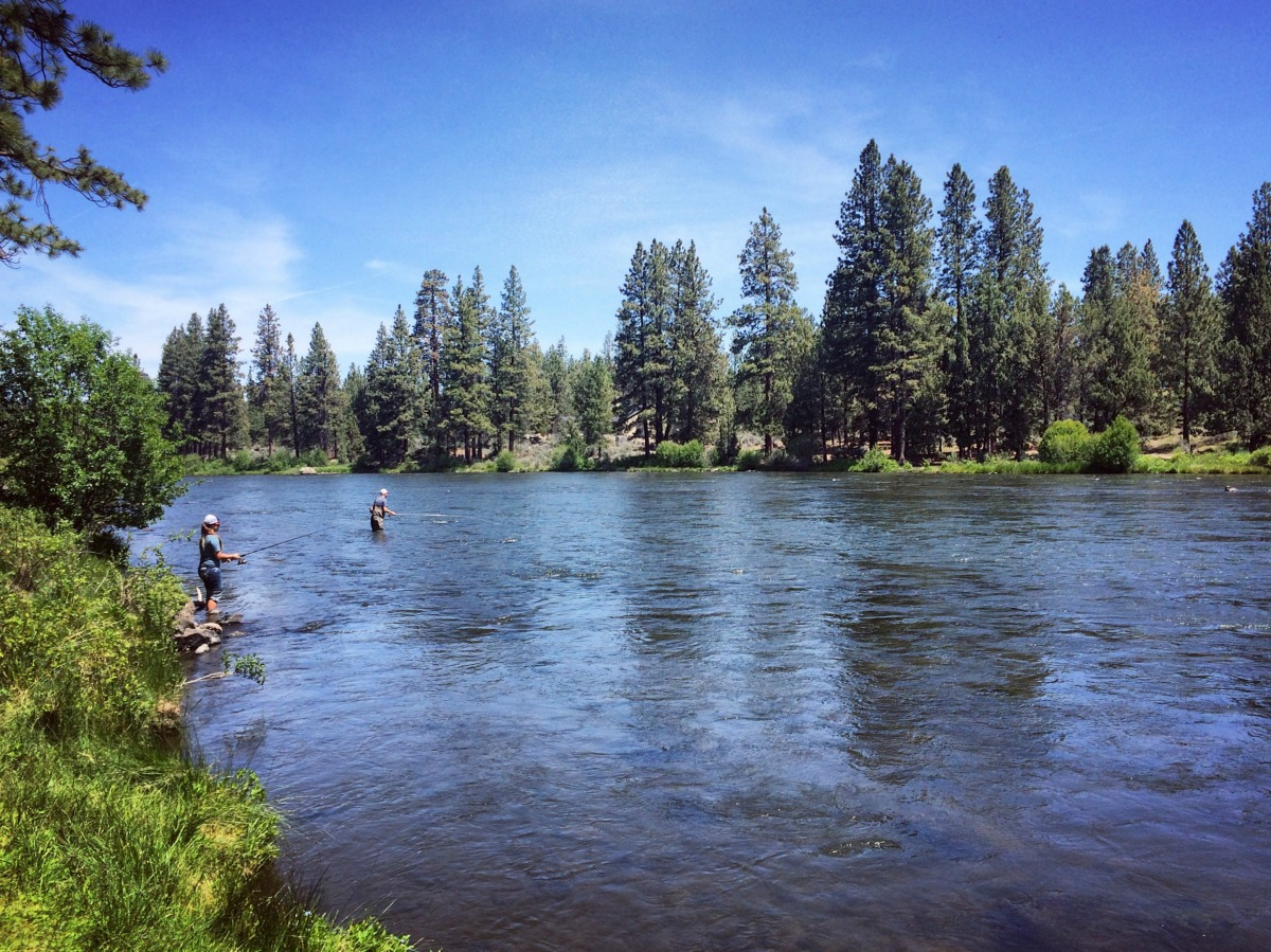 Fishing on the Deschutes