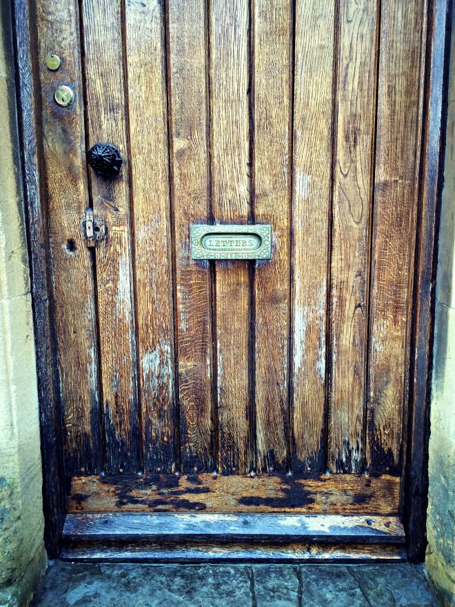 A door in Chipping Campden, the Cotswolds, England.
