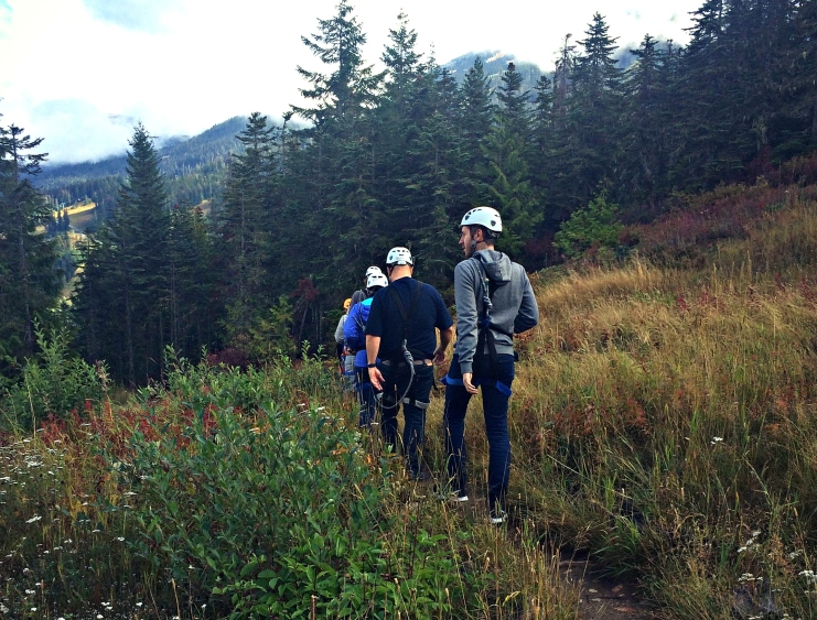 On a mountain trail above Whistler Village.