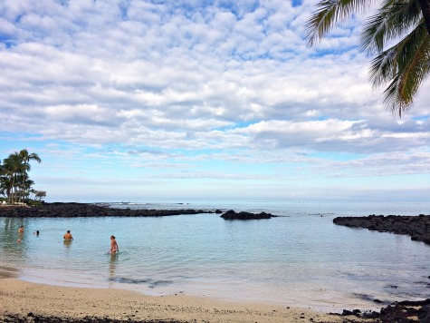 It was rainy and overcast most of our trip -- we finally saw the sun on the day we left, on a beach along the Kohala Coast.