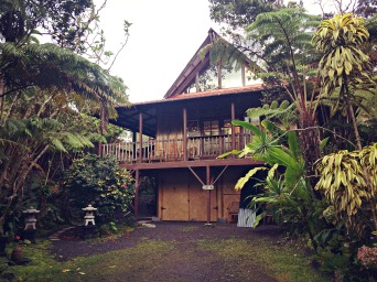 While exploring Volcanoes National Park, we stayed at Lotus Garden Cottages B&B for a few nights, in the rainforest of Volcano.
