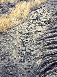 The petroglyphs at Pu'u Loa (or, volcanic emoji).