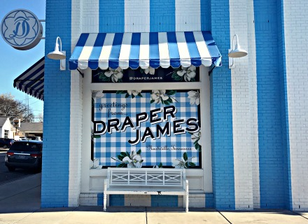 The exterior of Reese Witherspoon's Draper James in the 12 South neighborhood.