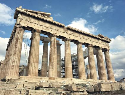 The Parthenon (plus scaffolding).