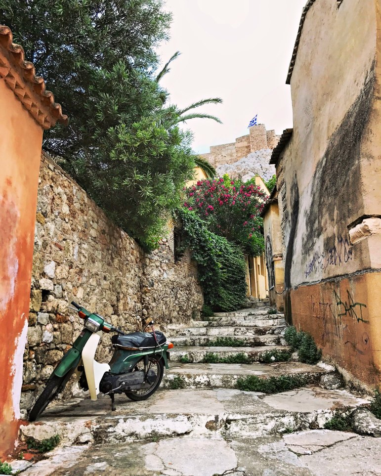 Steps leading somewhere . . . . in the Plaka district.