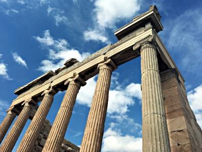 Atop the Acropolis.