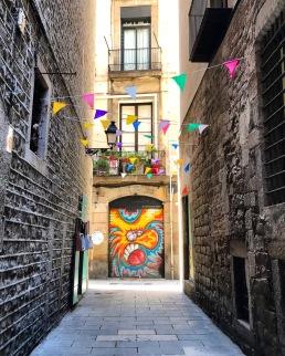 Alley, El Born, Barcelona, Spain