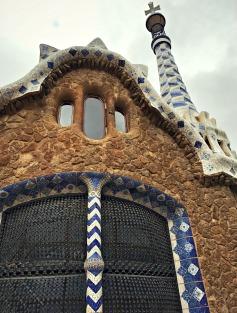 Gaudi's Gingerbread House, Parc Guell, Barcelona, Spain
