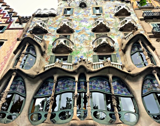 Casa Batlló, a remodel of a previously built house, designed by Antoni Gaudí.
