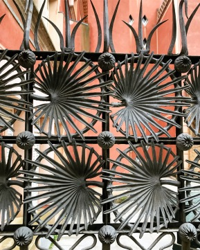 Fence Details, Parc Guell, Barcelona, Spain