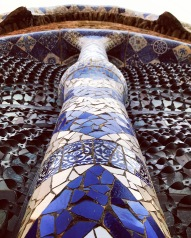 Tiled Column, Parc Guell, Barcelona, Spain