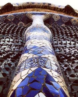 Tiled Column, Parc Guell, Barcelona, Spain