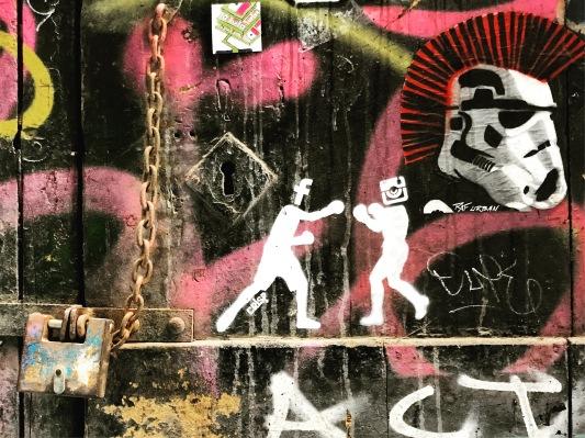 Social Media, Street Art by Crisp, El Born, Barcelona, Spain