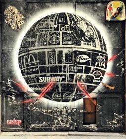 Street Art by Crisp, El Born, Barcelona, Spain