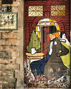 Street Art, Gothic Quarter, Barcelona, Spain