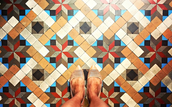 Tiles, Barcelona, Spain