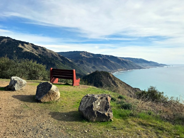 Bench with a View Overlooking Big Sur Coast